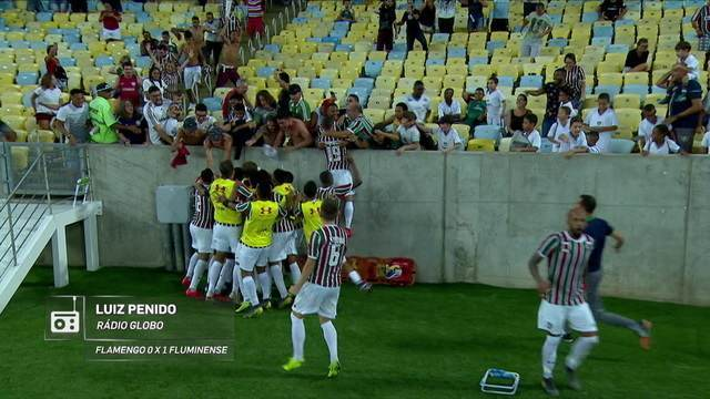 Redação AM: veja a narração de Luiz Penido para o gol de Luciano no Fla-Flu
