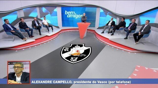 Presidente do Vasco, Alexandre Campello, relata o lado do clube na confusão da final da Taça Guanabara