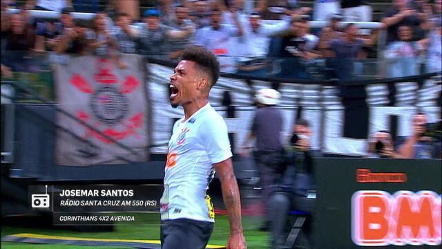 Redação AM: Josemar Santos, da Rádio Santa Cruz, narra a virada do Corinthians sobre o Avenida