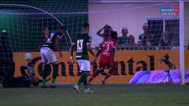 Confira os gols de Goiás 1 x 1 CRB no tempo normal pela Copa do Brasil