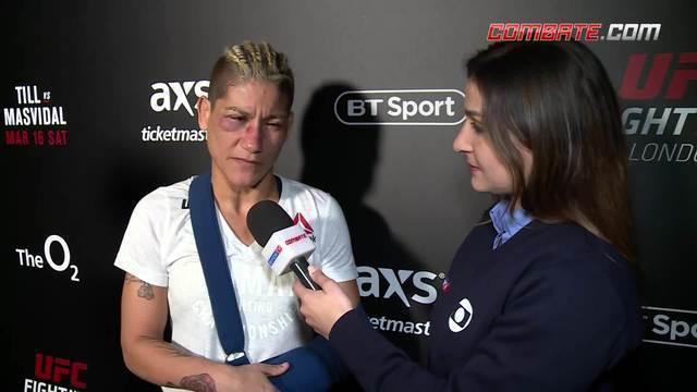 Após luta com McCann, Priscila Pedrita fala dos ferimentos
