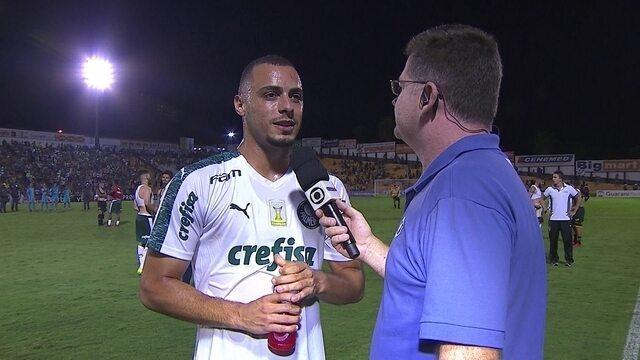"""Arthur Cabral comemora estreia com gol importante pelo Palmeiras: """"Dá muita confiança"""""""