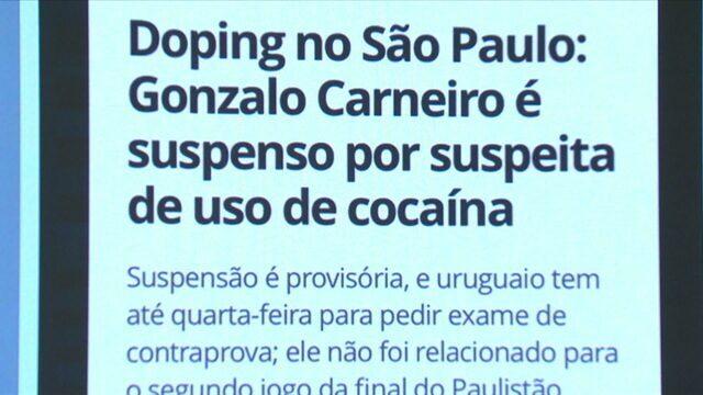 Gonzalo Carneiro é suspenso por suspeita de cocaína