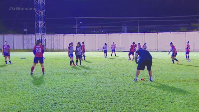 Equipe do Porto Velho se prepara a jogo contra o Palmeiras