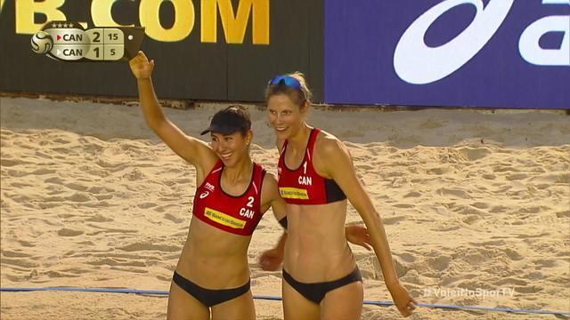 Pontos finais de Pavan/Melissa 2 x 1 Bansley/Brandie pelo Mundial de Vôlei de Praia