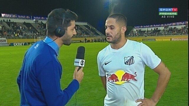 Yatlo fala sobre gol e vitória do Bragantino sobre o Figueirense