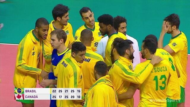 Melhores momentos: Brasil 3 x 2 Canadá pelo Amistoso Internacional de Vôlei