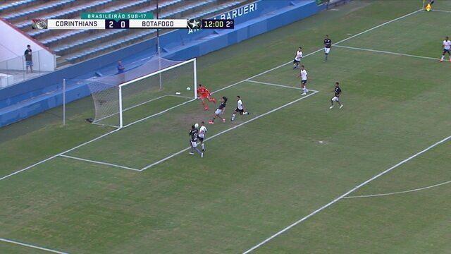 Após cruzamento, Rodrigo aparece, mas Riquelme antecipa e tira, aos 11' do 2º Tempo