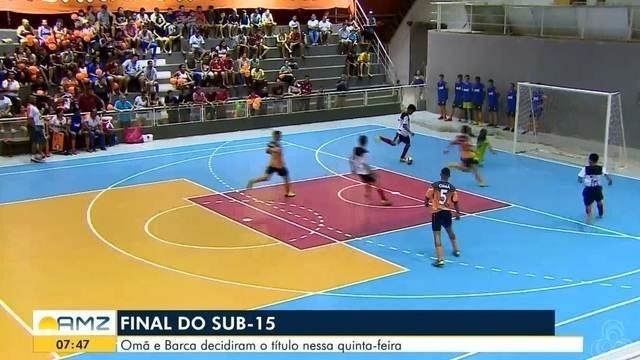 OMÃ e Barca decidiram o título pelo sub-15 de futsal nessa quinta-feira