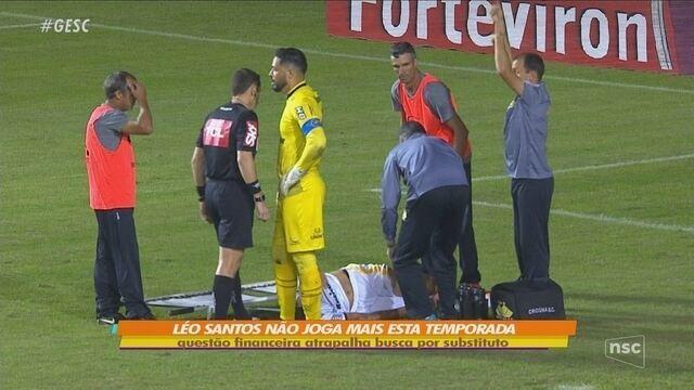 Com lesão no joelho, zagueiro Léo Santos desfalca o Criciúma até o fim da temporada