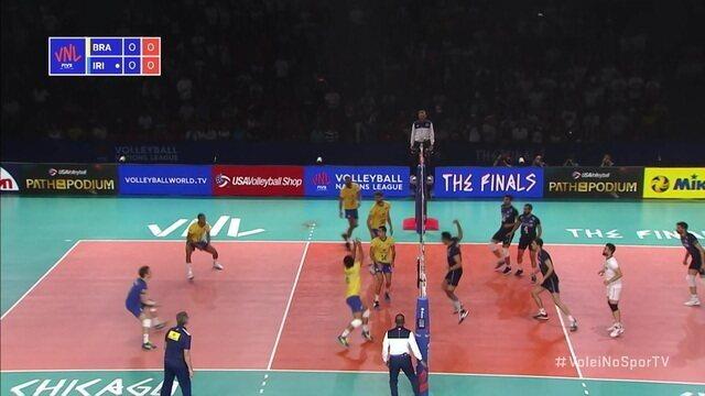1º set: Irã consegue o primeiro ponto