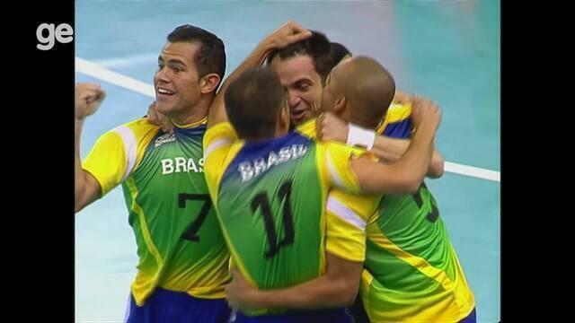 Gols Brasil 4x1 Argentina final futsal dos Jogos Pan-Americanos do Rio 2007