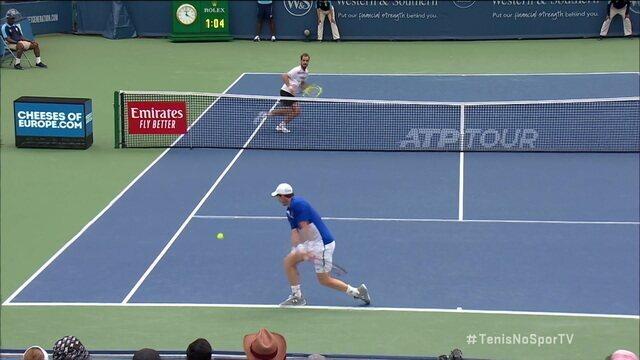 Murray joga ponto longo, explora o contrapé de Gasquet e vence o ponto no Masters 1000 de Cincinnati