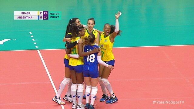 Pontos finais: Brasil 3 x 0 Argentina pelo amistoso de vôlei internacional