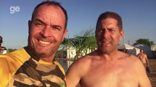 Clayton dá um mergulho em Porto Nacional, no Tocantins