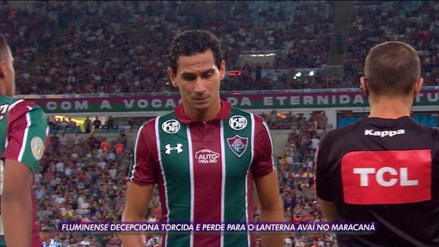 Fluminense decepciona e perde para o lanterna Avaí em casa