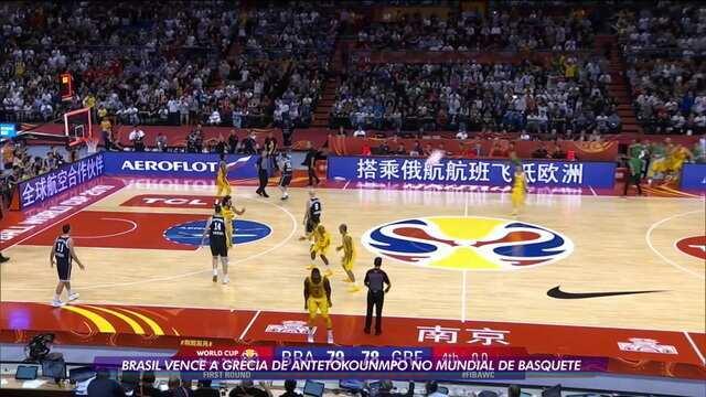 Brasil vence a Grécia em jogo emocionante da Copa do Mundo de Basquete