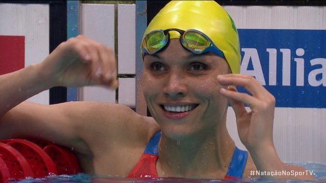 Maria Carolina Santiago ganha medalha de ouro nos 50m livre S12, no Mundial de Natação Paralímpica