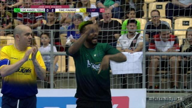 Os gols de Time do Manoel Tobias 5 x 5 Time Amigos do Fininho pelo jogo dos Craques do futsal