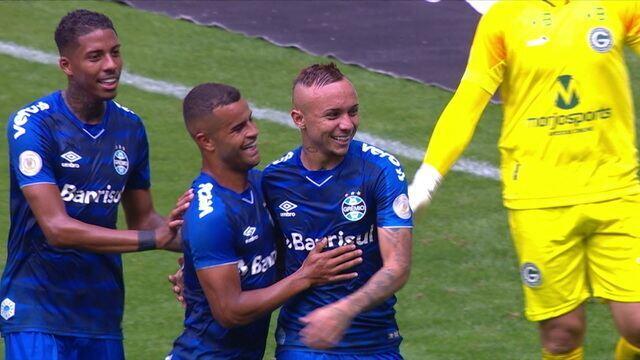 Gols de Grêmio 3 x 0 Goiás, pela 19ª rodada do Campeonato Brasileiro