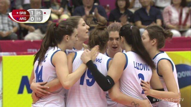 Pontos finais de Sérvia 3 x 1 Argentina pela Copa do Mundo de vôlei feminino