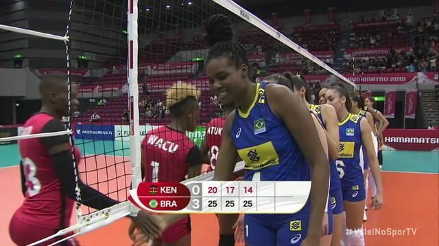 Os pontos decisivos de Quênia 0 x 3 Brasil pela Copa do Mundo Feminina de Vôlei