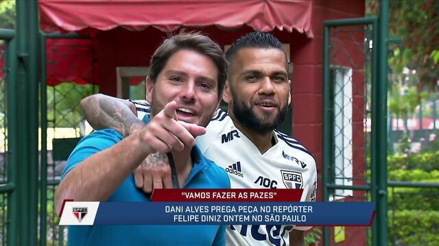 Fabiola Andrade diz que Daniel Alves foi genial ao pedir desculpas em brincadeira com Felipe Diniz