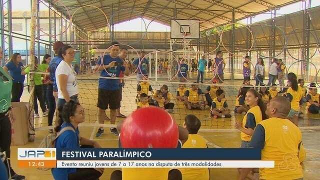 Mais de 150 crianças com ou sem deficiência física participam do Festival Paralímpico