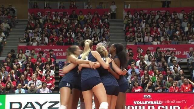 Pontos finais de Japão 2x3 Estados Unidos pela Copa do Mundo de Vôlei Feminino