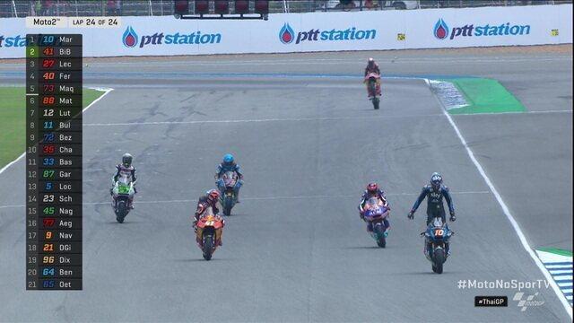 Luca Marini vence o Moto2 da Tailândia