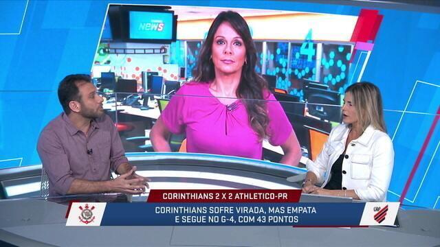 """Loffredo analisa o jogo Corinthians e Athletico-PR e diz: """"fez com que o jogo chato do Corinthians ficasse mais legal"""""""