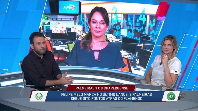 Loffredo destaca que, mais uma vez, Dudu é um dos melhores jogadores do Campeonato Brasileiro