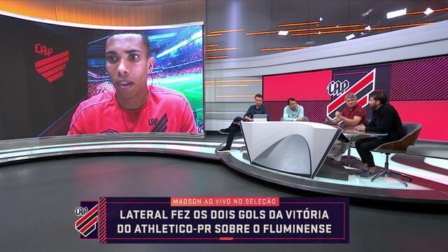 """Destaque na vitória do Athletico-PR, Madson fala sobre a surpresa ao marcar dois gols na mesma partida: """"Cena rara"""""""