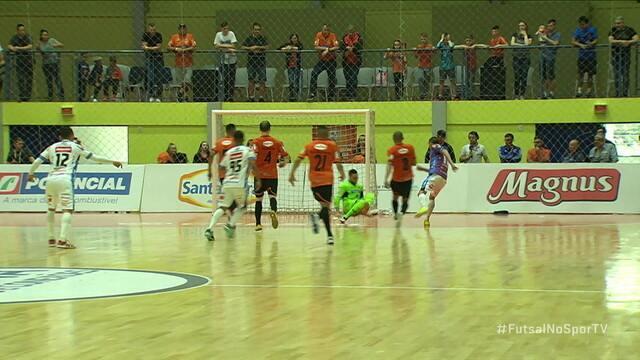 Os gols de Carlos Barbosa 1 (0) x (1) 0 Pato Futsal pelas quartas de final da LNF