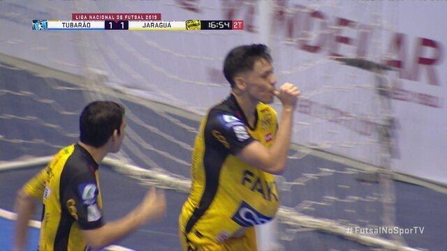 Gols de Tubarão 1 x 1 Jaraguá pelas quartas de final da Liga Nacional de Futsal