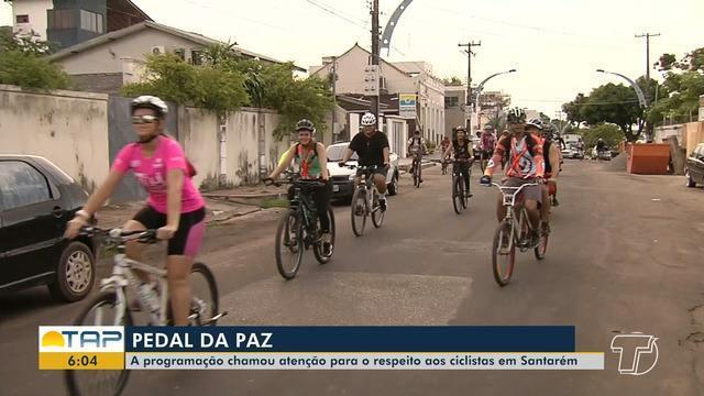 'Pedal da Paz' chama a atenção para respeito aos ciclistas em Santarém