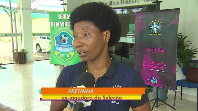 Ex-jogadora da Seleção Brasileira, Pretinha participa de seminário em Porto Velho