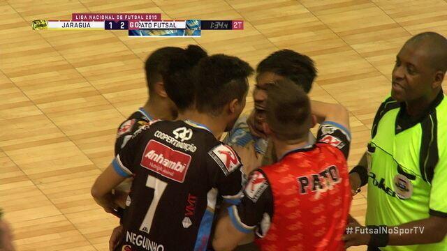 Os gols de Jaraguá 1 x 2 Pato Futsal pela Liga Nacional de Futsal 2019