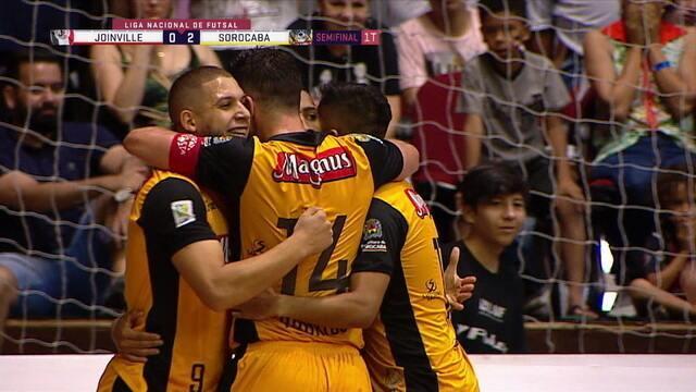Os gols de Joinville 0 x 7 Sorocaba pela Liga Nacional de futsal