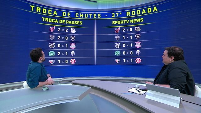 """""""Troca de chutes"""": News desafia o Troca de Passes na 37ª rodada do Brasileirão"""