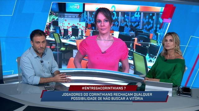 "Comentaristas comentam sobre a campanha ""#entregacorinthians"""