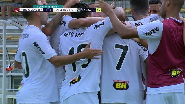 O gol de Midtjylland 0 x 1 Atlético-MG pela Copa RS de futebol sub-20