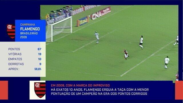 Redação relembra os 10 anos do título do Flamengo no Brasileirão