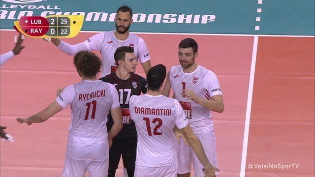 Pontos finais de Lube Civitanova 3 x 0 Al Rayyan pelo Mundial de Clubes de vôlei masculino