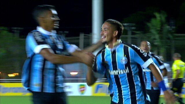 O gol de Grêmio 1x0 Athletico-PR pela semifinal da Copa RS de Futebol sub-20