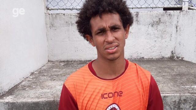 Atacante Matheus Bidick fala sobre a derrota da Desportiva em jogo-treino
