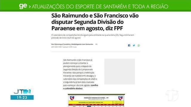 Confira o destaque do GE Santarém e região