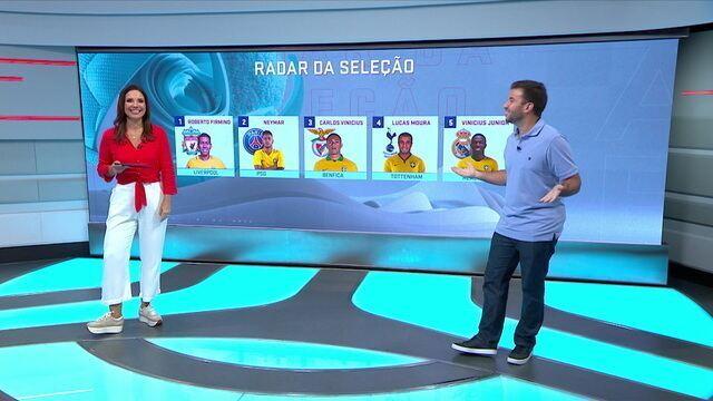 Radar da Seleção: Firmino e Neymar brilham com assistências no fim de semana