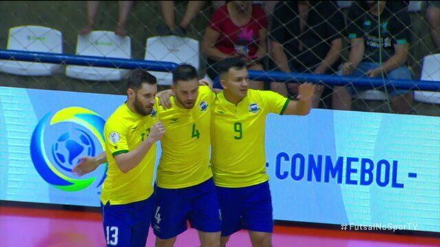 Os gols de Brasil 5 x 0 Peru pelas Eliminatórias da Copa do Mundo de Futsal