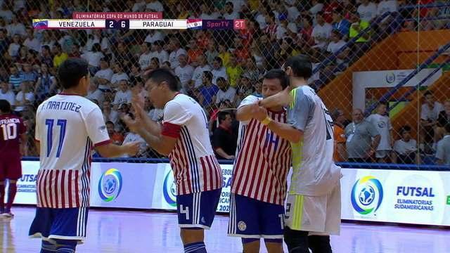 Os gols de Venezuela 2 x 6 Paraguai pelas eliminatórias da Copa do Mundo de Futsal